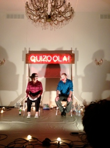 Terry O' Connor and Tim Etchells about 22 hours into the 24-hour Quizoola!